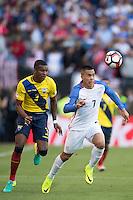 Action photo during the match United States vs Ecuador at CenturyLink Field Stadium Copa America Centenario 2016. ---Foto  de accion durante el partido Estados Unidos En el Estadio CenturyLink Field. Partido Correspondiante a los Cuartos de Final de la Copa America Centenario USA 2016, en la foto: (i)-(d) Frickson Erazo, Bobby Wood--- - 16/06/2016/MEXSPORT/Omar Martinez.