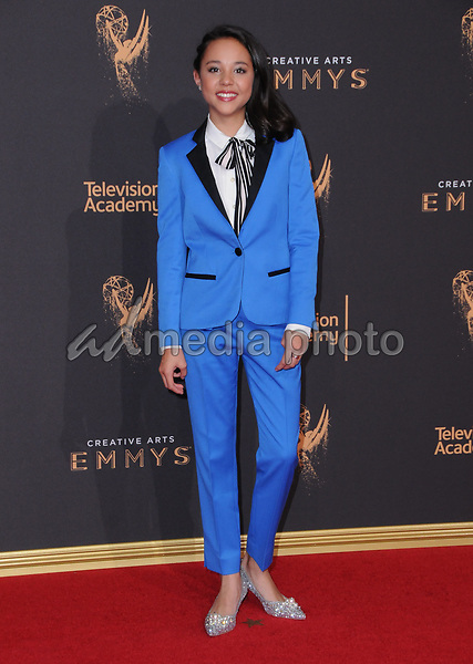 10 September  2017 - Los Angeles, California - Breanna Yde. 2017 Creative Arts Emmys - Arrivals held at Microsoft Theatre L.A. Live in Los Angeles. Photo Credit: Birdie Thompson/AdMedia
