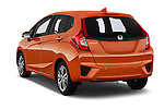 Car pictures of rear three quarter view of 2016 Honda Jazz Elegance 5 Door Hatchback Angular Rear