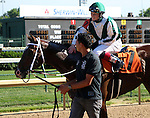 May 31, 2014: Regally Ready, a 7 year old gelding riddeny by Rosie Napravnik, wins the Opening Verse Stakes at Churchill Downs.  He is owned by Vinery Stables and trained by Steve Asmussen.  Mary M. Meek/ESW/CSM