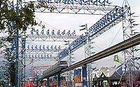 Vancouver: EXPO '86--Monorail, near Aviation Plaza.  Photo '86.