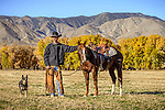 Cowboy Nick Dowers at the ranch in Dyer, Nevada