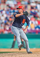 5 March 2016: Detroit Tigers pitcher Kevin Ziomek on the mound during a Spring Training pre-season game against the Washington Nationals at Space Coast Stadium in Viera, Florida. The Tigers fell to the Nationals 8-4 in Grapefruit League play. Mandatory Credit: Ed Wolfstein Photo *** RAW (NEF) Image File Available ***