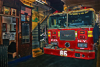 A view just inside FIRE ENGINE COMPANY NO. 65 in Manhattan, NYC.