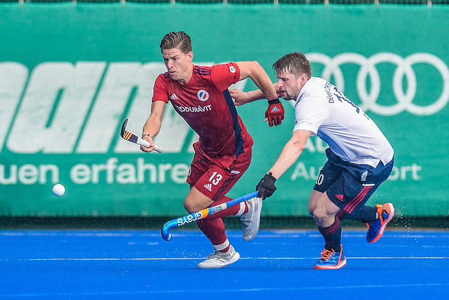 Krefeld, Germany, August 27: During the men quarterfinal fieldhockey match between Mannheimer HC  and Duesseldorfer HC on August 27, 2021 at the 1. Liga-Cup at Crefelder HTC in Krefeld, Germany. (Photo by Dirk Markgraf / www.265-images.com) *** Local caption ***