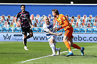 24th April 2021; The Kiyan Prince Foundation Stadium, London, England; English Football League Championship Football, Queen Park Rangers versus Norwich; Tim Krul of Norwich City celebrates after he saves a penalty from Lyndon Dykes of Queens Park Rangers