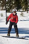 Snowboarding at Northstar at Lake Tahoe, CA