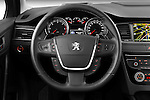 Steering wheel view of 2012 Peugeot 508 SW Allure Wagon Stock Photo