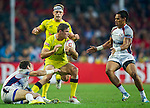Australia vs United States during the HSBC Sevens Wold Series Plate Final match as part of the Cathay Pacific / HSBC Hong Kong Sevens at the Hong Kong Stadium on 29 March 2015 in Hong Kong, China. Photo by Juan Manuel Serrano / Power Sport Images