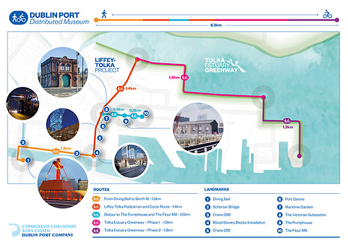 A graphic of the Dublin Port Company Liffey/Tolka Project that will create a 1.4km cycle path through port lands