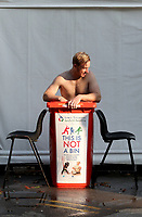 Simon Harmer of Essex endures an ice bath following Essex CCC vs Surrey CCC, Bob Willis Trophy Cricket at The Cloudfm County Ground on 9th August 2020