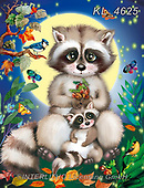 Catalea,Interlitho-Alfredo, CUTE ANIMALS, LUSTIGE TIERE, ANIMALITOS DIVERTIDOS, paintings+++++,2 raccoons,KL4625,#ac#, EVERYDAY ,puzzle,puzzles