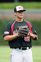 August 18 2008:  Jacob Marisnick (32) of the Baseball Factory team during the 2008 Under Armour All-American Game at Wrigley Field in Chicago, IL.  Photo by:  Mike Janes/Four Seam Images