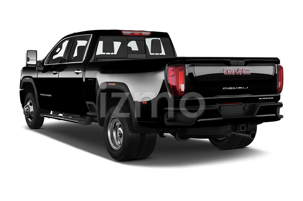 Car pictures of rear three quarter view of 2020 GMC Sierra Denali 4 Door Pick-up Angular Rear
