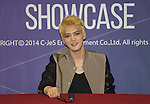 JaeJoong, Aug 03, 2014 : South Korean boy band JYJ's JaeJoong attends a news conference after a showcase for the group's new second regular album, 'JUST US', in Seoul, South Korea.  (Photo by Lee Jae-Won/AFLO) (SOUTH KOREA)