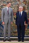 King Felipe VI of Spain receive in Royal Audience to Juan Jose Gonzalez Rivas, President Constitutional Court at Zarzuela Palace in Madrid, July 24, 2017. Spain.<br /> (ALTERPHOTOS/BorjaB.Hojas)