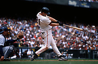 SAN FRANCISCO, CA:  Jeff Kent of the San Francisco Giants bats during a game at Pacific Bell Park in San Francisco, California in 2000. (Photo by Brad Mangin)