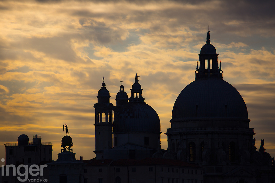 Venice Rooftops at Sunset, Italy