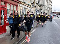 Photo: Richard Lane/Richard Lane Photography. Bath Rugby v Wasps. Aviva Premiership. 04/02/2017. Wasps walk to the ground.