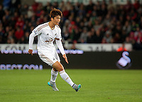 Pictured: Ki Sung Yueng of Swansea Tuesday 25 August 2015<br /> Re: Capital One Cup, Round Two, Swansea City v York City at the Liberty Stadium, Swansea, UK.