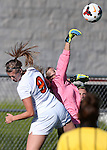 Girls soccer action between Douglas and Reed at DHS in Minden, Nev., on Tuesday, Sept. 15, 2014.<br /> Photo by Cathleen Allison