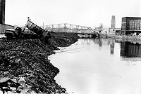 Undated File Photo taken between 1971 and 1979 - Dumping in Lachine Canal