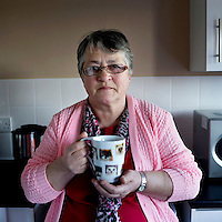 June Holt, 60, Durham.<br /> <br /> 'You won't believe it but three year ago I was ready for doing away with me self. I went into full depression and was going to take my full medication just to be with my [deceased] husband, to tell you the truth…. My husband had a heart transplant 14 years previous to his death, he was sick. He just carried on the best way he could. He was working before that, he did very well.  After he had his heart transplant, we used to do all sorts together, we used to go fishing and everything. That's what I called my life…. After he died, we found out it was the stuff he was working with that made him ill. He was working with double glazing and it was the sealant in that that affected his heart. Every time he came home it was on his clothes. When I lost me husband I lost a friend for life…. It didn't hit me till I found that out.Those three years I was in a world of me own, just getting on with life, then the third year I just went down rock bottom. In November I lost me benefits. I tried to do without, just the way we were brought up, and I was given a voucher to go and get some food.  Then I went to the food bank and asked if there were any jobs. I do two afternoons in the food bank and three mornings in the office doing the filing…. I've used the food bank twice, which has been a big help to me. That's twice in three years.  <br /> The second was when they tried to take me off my benefits again but I won my appeal but I had to do without food for a week or a fortnight to wait. There are a lot of people out there who have been sanctioned because they missed one job or were a minute late. It's not right.That needs sorting…. Everybody says it's amazing the way I have picked up.I feel it myself, I feel a lot better in myself. I have moved to a new place and I feel a lot better again….. Working at the food bank has helped step-by-step, and each step I have taken has been a big help. I call it my therapy because I have helped them and as I hav