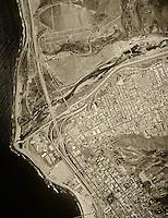 historical aerial photograph Ventura, California, 1972