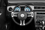 Steering wheel view of a 2011 ford mustang gt premium convertible