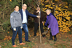 Éanna NÍ Lamhna of the Tree Council of Ireland, with Jackie Wherity (Sales Manager Consumer Products), Colm Conyngham (Marketing and Public Relations Manager) and Brendan Fitzsimons (CEO Tree Council of Ireland) planting a tree at the Bridgestone Balbriggan Service Centre, Unit 13 KVS Business Park, Balbriggan, Co. Dublin, Ireland on Friday 22nd November 2019.<br /> Picture:  Thos Caffrey / Newsfile<br /> <br /> All photo usage must carry mandatory copyright credit (© Newsfile   Thos Caffrey)