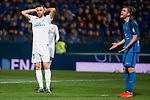 Fuenlabrada Dani Fernandez and Real Madrid Borja Mayoral during Copa del Rey match between Fuenlabrada and Real Madrid at Fernando Torres Stadium in Madrid, Spain. October 26, 2017. (ALTERPHOTOS/Borja B.Hojas)