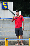 St Albans 0 Watford 5, 26/07/2014. Clarence Park, Pre Season Friendly. Pre Season friendly between St Albans City and Watford from Clarence Park Stadium. Troy Deeney makes his way back to the team bus after a 5-0 for Watford. Watford won the game 5-0. Photo by Simon Gill.
