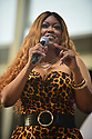MIRAMAR, FL - JUNE 20: Supa Cindy, radio personality on stage hosting during Who's Dat Modasucka Comedy Jam at Miramar Regional Park Amphitheater on June 20, 2021 in Miramar, Florida.    ( Photo by Johnny Louis / jlnphotography.com )