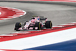 Estaban Ocon of France (31) in action before the Formula 1 United States Grand Prix race at the Circuit of the Americas race track in Austin,Texas.