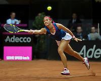 Arena Loire,  Trélazé,  France, 16 April, 2016, Semifinal FedCup, France-Netherlands, Caroline Garcia (FRA)<br /> Photo: Henk Koster/Tennisimages