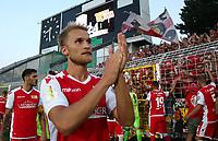 Sebastian Andersson,   Anzeigetafel and Endergebnis 2:4    celebration       <br /> / Sport / Football / DFB Pokal 1.round 3. Bundesliga 2.Bundesliga /  2018/2019 / 19.08.2018 / FC CZ Jena vs. 1.FC Union Berlin / DFL regulations prohibit any use of photographs as image sequences and/or quasi-video. /<br />       <br />    <br />  *** Local Caption *** © pixathlon<br /> Contact: +49-40-22 63 02 60 , info@pixathlon.de
