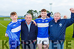 Stephen O'Sullivan celebrate winning the Munster Intermediate Championship final against St Breckan's in Mallow on Sunday with Michael, Brendan and Stephen O'Sullivan and Donie Cahillane