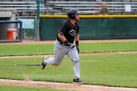 Quad Cities River Bandits third baseman Colton Shaver (37) runs to first base during a Midwest League game against the Beloit Snappers on May 20, 2018 at Pohlman Field in Beloit, Wisconsin. Beloit defeated Quad Cities 3-2. (Brad Krause/Four Seam Images)