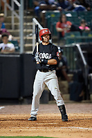 Chattanooga Lookouts second baseman Levi Michael (9) at bat during a game against the Jackson Generals on April 29, 2017 at The Ballpark at Jackson in Jackson, Tennessee.  Jackson defeated Chattanooga 7-4.  (Mike Janes/Four Seam Images)