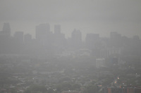 smog over Montreal on June 11,2013<br /> <br /> File Photo : Agence Quebec Presse - Pierre Rousel
