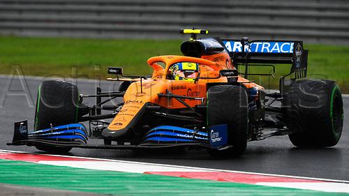 14th November 2020; Istanbul Park, Istanbul, Turkey; FIA Formula One World Championship 2020, Grand Prix of Turkey, qualifying; 4 Lando Norris GBR, McLaren F1 Team spins his car