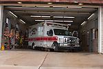 Ambulance in the Fire Station Menmonee Falls Wisconsin