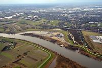 Kreetsand: EUROPA, DEUTSCHLAND, HAMBURG 07.02.2016:   Tiedeelbe Konzept Kreetsand, Hamburg Port Authority (HPA), soll auf der Ostseite der Elbinsel Wilhelmsburg zusaetzlichen Flutraum für die Elbe schaffen. Das Tidevolumen wird durch diese strombauliche Massnahme vergroessert und der Tidehub reduziert. Gleichzeitig ergeben sich neue Moeglichkeiten für eine integrative Planung und Umsetzung verschiedenster Interessen und Belange aus Hochwasserschutz, Hafennutzung, Wasserwirtschaft, Naturschutz und Naherholung.