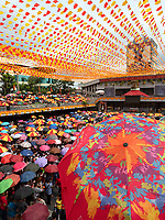Street photography Cebu city and Mactan island, Philippines Basilica Minore del Santo Niño, Church mass prior the Sinalog Festival