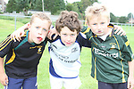 Dylan Lynch, Daniel Doyle and James O'Neil at the Summer Camp in Boyne Rugby Football Club...Picture Jenny Matthews/Newsfile.ie