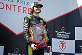 #26: Colton Herta, Andretti Autosport w/ Curb-Agajanian Honda celebrates winning