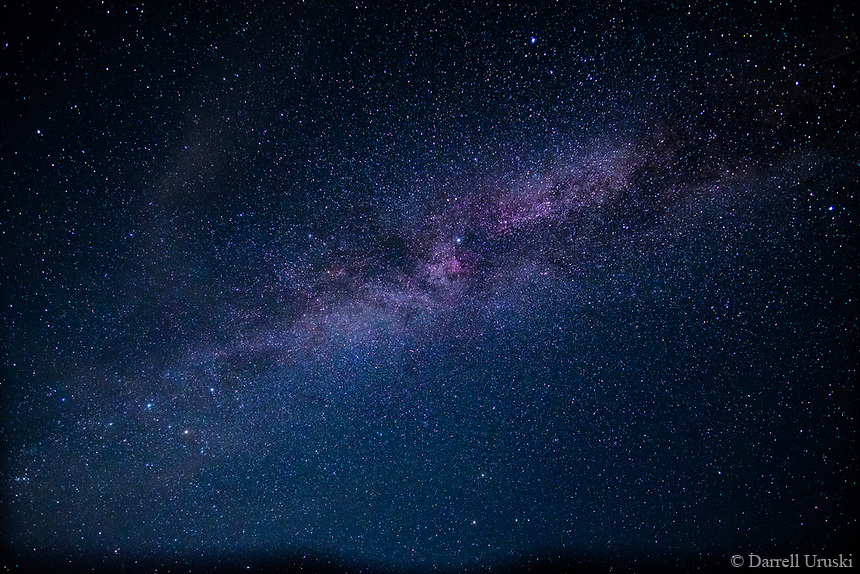 Stary, Stary Night. <br /> Wide angle photograph of the heavens featuring the Milky Way.