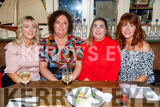 Pauline O'Donoghue, Liz Kelly Regan, Diane O'Shea and Tracy Bulger enjoying the evening in the Mall Tavern on Saturday.