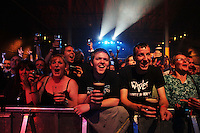 23/9/2010. Arthurs day. The crowd at the Guinness Store House Dublin raise their glasses for Arthurs Day. Picture James Horan/Collins