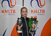 March 8, 2015, Netherlands, Rotterdam, TC Victoria, NOJK, winer girls 12 years Bente Spee <br /> Photo: Tennisimages/Henk Koster
